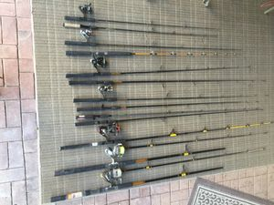 13 fishing poles 7 reels for Sale in Scottsdale, AZ