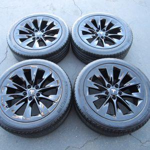 "19"" oem Tesla Model S factory wheels 19 inch gloss black rims Tesla s for Sale in Irvine, CA"