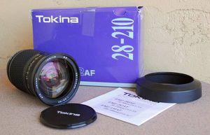 Tokina AF Nikon Mount 28-210mm F3.5-5.6 lens in box for Sale in Apache Junction, AZ
