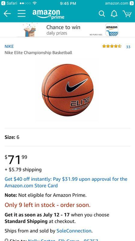 innovative design af54d 34995 Nike Elite Champion Airlock basketball 28.5 intermediate for Sale in ...