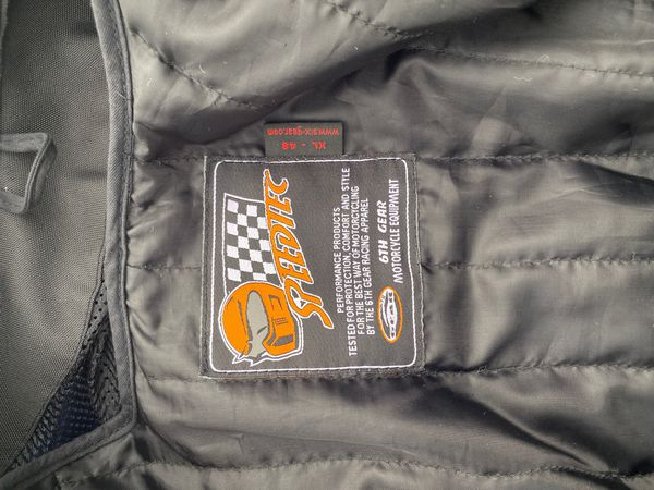 6th Gear Speedtec Motorcycle jacket SIZE XL - 48