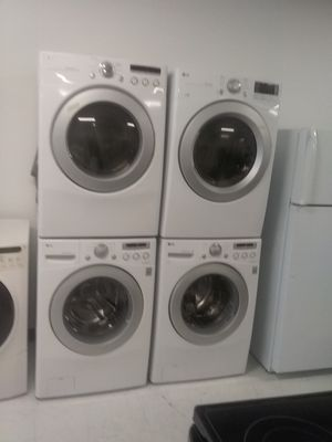 Lg a washers and dryers 600 each used good condition 90days warranty 🔥🔥🔥 for Sale in Mount Rainier, MD