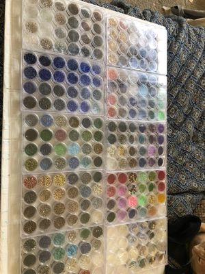Vintage bead collection Huge glass bead collection organized 240 x for Sale in Murrieta, CA