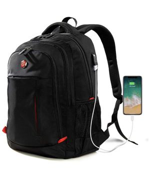 Laptop Backpack, Travel Waterproof Computer Bag for Women Men, Anti-theft High School College Bookbag, Business Fashion Backpacks with USB Charging P for Sale in Irvine, CA