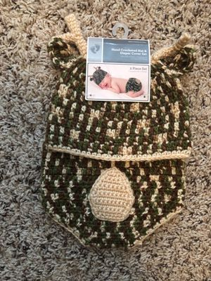 Infant hat and diaper cover for Sale in Garner, NC