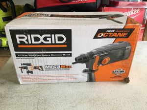 RIDGID 18-Volt OCTANE MEGAMax 1-1/8 in. SDS-Plus Rotary Hammer (Attachment Head Only) for Sale in Fontana, CA