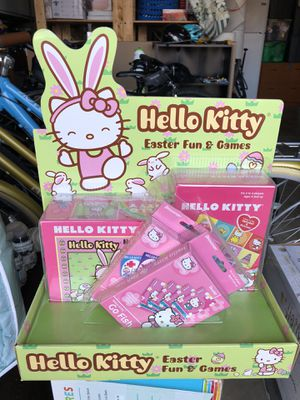 Hello Kitty Easter Fun and Card Games Puzzle Basket NEW for Sale in Irvine, CA