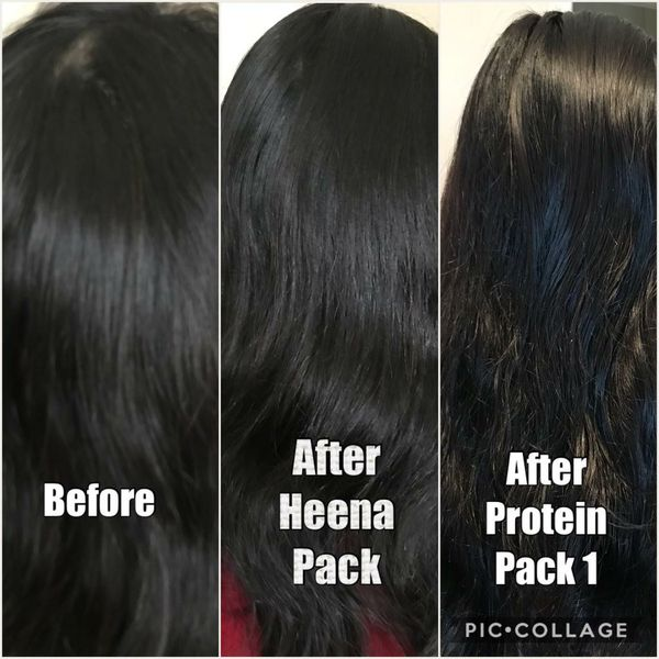 Organic hair protein packs