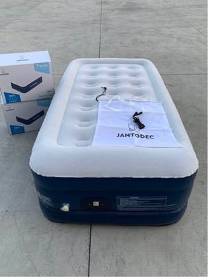 NEW JantoDex Twin size mattress 550 lbs capacity inflate deflate built-in pump under 5 minutes includes carrying bag 75x39x18 inch tall inflatable ca for Sale in Whittier, CA