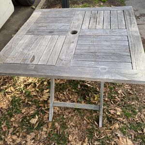Free outdoor tea table, in somewhat scratched condition but still very usable! for Sale in Arlington, VA