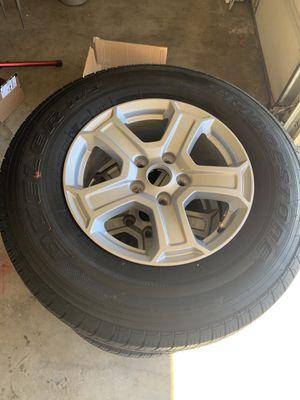 Like new 2018 Jeep Wrangler wheel set for Sale in Brea, CA