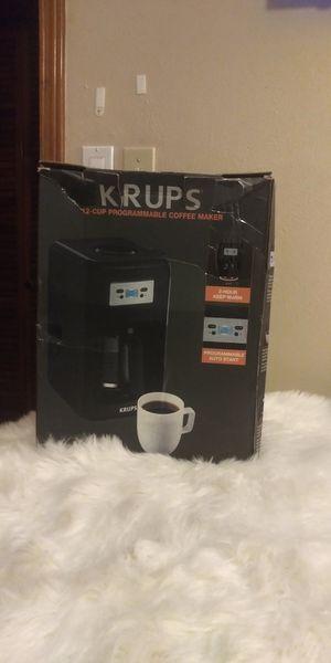 Nib Krups 12 cup programmable coffeemaker for Sale in El Paso, TX