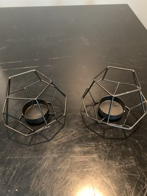 12 Geometric tea light holders for Sale in Olathe, KS