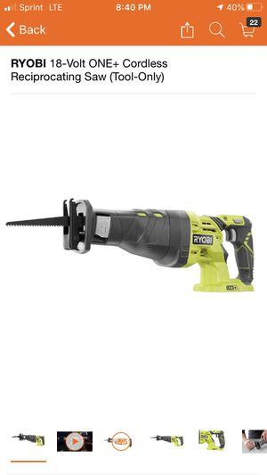 RYOBI 18-Volt ONE+ Cordless Reciprocating Saw (Tool-Only) for Sale in Pomona, CA