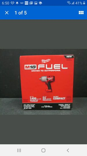 Milwaukee M18 fuel half inch high torque impact wrench with friction ring model number to 2767 - 2 0 for Sale in El Cajon, CA