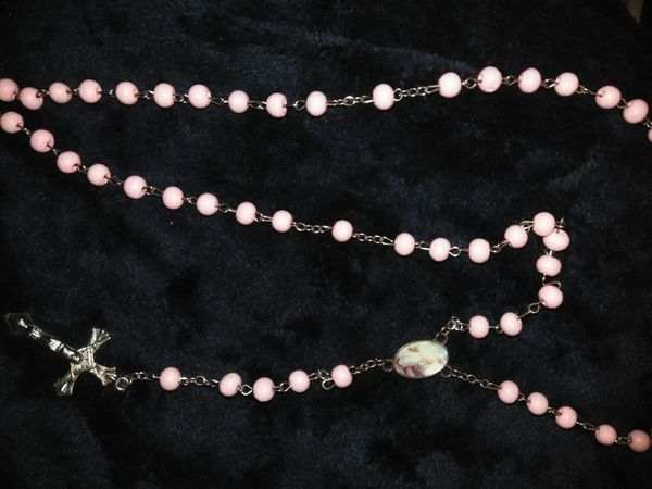 Sterling silver pink rosary