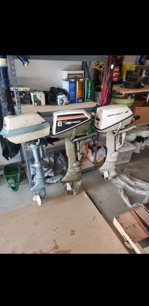 Two 6hp Johnson outboard motors for Sale in Vancouver, WA