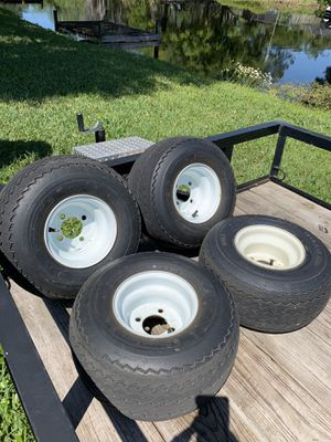 Golf cart rims and tires for Sale in Tampa, FL