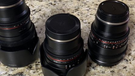 Rokinon T1.5 Cine lenses Sony E mount for Sale in Fort Worth,  TX