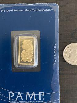 Vintage 2.5 Gram Gold Pamp Credit Suisse Gold Bar for Sale in Fresno,  CA