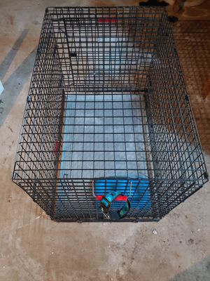 Dog Crate Pet Kennel Metal Medium Latches Kennel- aid Sturdy for Sale in Lake Shore, MD