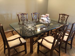Formal dining table. Never used. Extreme quality and very heavy for Sale in Wenatchee, WA