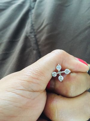 Diamond stone earring stud for Sale in Manchester, CT