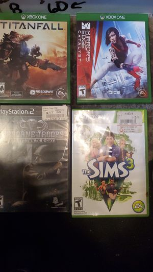 Four different Free video games for Sale in Croydon, PA