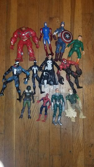 12 Marvel actions figures. Read description for Sale in Philadelphia, PA