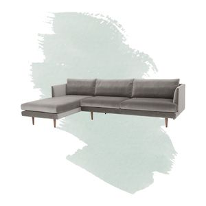"""Velvet 112"""" sectional couch for Sale in New York, NY"""
