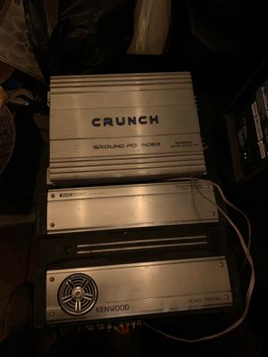Crunch and kenwood amplifier for Sale in San Jose, CA