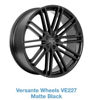 "Versante Alloy Wheels Black 20"" Rims (4) & (4) Tires for Sale in Baltimore, MD"