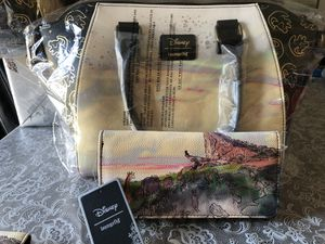 Disney LION KING LOUNGEFLY PURSE AND WALLET for Sale in Fresno, CA