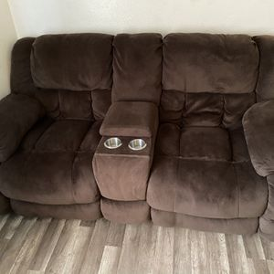 Brown Fabric Recliner Couch for Sale in San Diego, CA
