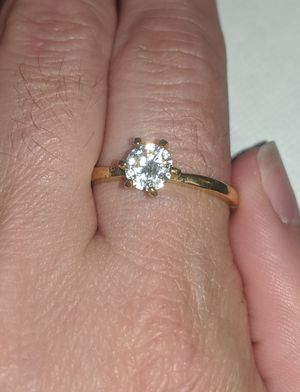 Gold tone stone Ring size 10 1/4 for Sale in Clinton, MO