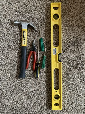 Hammer. Pliers, screwdrivers, level, extension cord (tools) for Sale in Torrance, CA