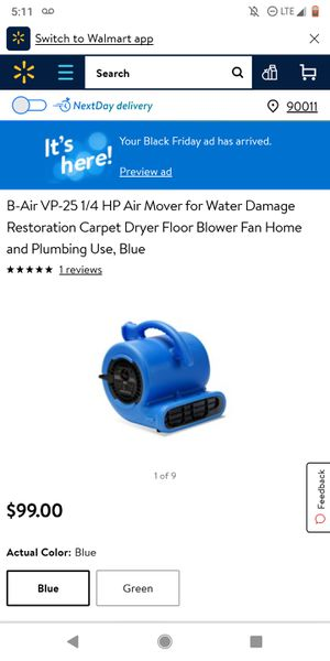 VP-25 Blue Fans for Sale in Cerritos, CA