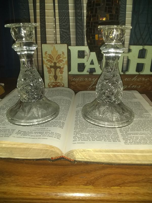 Candle holders & statue