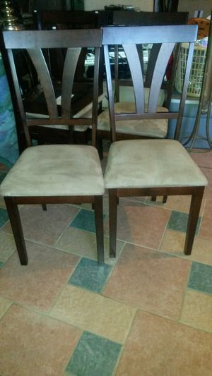5 new beautiful solid cherry wood chairs for Sale in Silver Spring, MD
