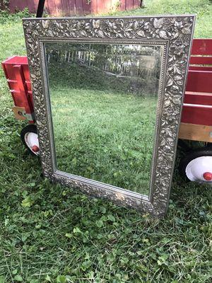 Decorative silver mirror for Sale in Darien, IL