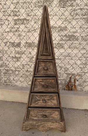 Antique Wood Triangle Cabinet/Drawer for Sale in Los Angeles, CA