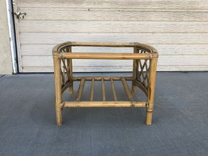 Rattan bamboo table (base only) for Sale in Los Angeles, CA