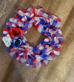 Red white and blue wreath for Sale in Bridgeport, WV
