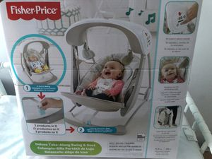 BRAND NEW Fisher Price Deluxe Take-Along Swing & Seat for Sale in Detroit, MI