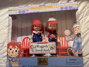 Collector Edition Raggedy Ann and Andy Barbie Set for Sale in Moundsville, WV