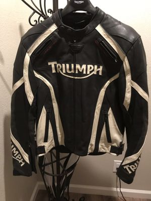 Triumph leather motorcycle jacket size 42 for Sale in San Antonio, TX