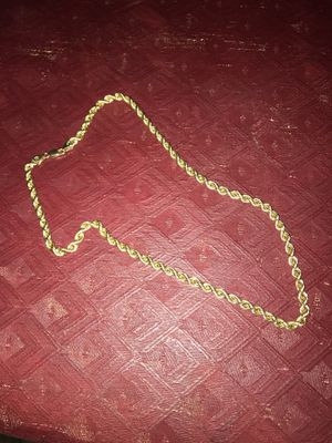 10kt hollow gold rope chain for Sale in Columbus, OH