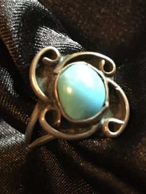 Vintage Handmade Silver & Turquoise Ring Size 7 for Sale in Raymore, MO