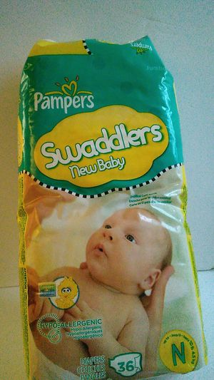 Pampers Swaddlers New Baby Size N Never Opened 2009 for Sale in Pelzer, SC