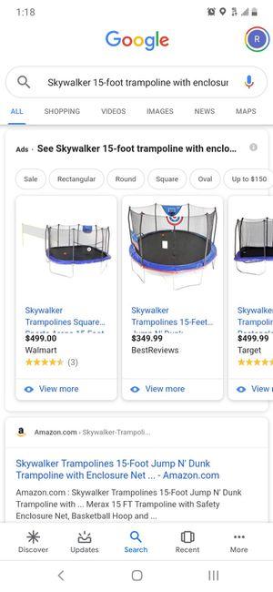 Brand new trampoline 15 ft for Sale in Las Vegas, NV